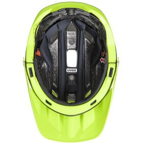 UVEX Quatro Integrale Fietshelm, black lime mat